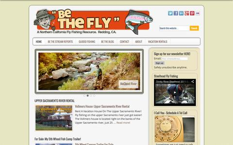 Screenshot of Home Page bethefly.com - Northern California Fly Fishing Report • chris parsons • guided fly fishing • bethefly.com - captured Oct. 2, 2014