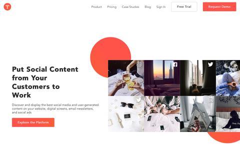 TINT: Social Media Aggregator | Content Curation Platform