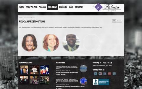 Screenshot of Team Page fiduciamarketing.com - Fiducia Marketing Team - Fiducia Marketing - captured Sept. 30, 2014