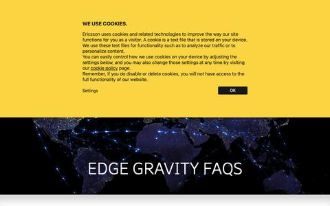 Screenshot of FAQ Page ericsson.com - Unified Delivery Network (UDN) FAQ - Edge Gravity by Ericsson - captured Dec. 6, 2018