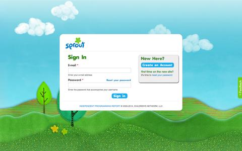 Screenshot of Login Page sproutonline.com - Home | Sprout - captured Sept. 22, 2014