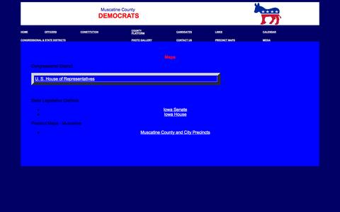 Screenshot of Maps & Directions Page muscatinedemocrats.org - Muscatine Democrats - captured June 23, 2016