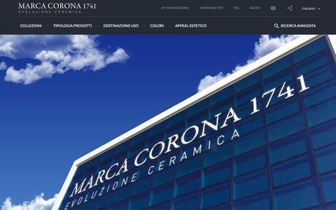 Screenshot of Privacy Page marcacorona.it - Ceramiche Marca Corona - Trattamento dei dati - captured Jan. 27, 2016