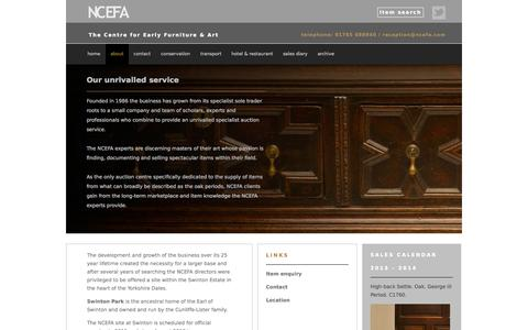 Screenshot of About Page ncefa.com - About NCEFA - captured Oct. 6, 2014