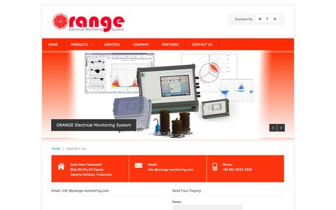 Screenshot of Contact Page orange-monitoring.com - PT. ORANGE MONITORINDO | ORANGE ELECTRICAL MONITORING - captured Aug. 4, 2015