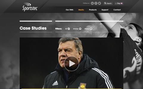 Screenshot of Case Studies Page sportstec.com - Case Studies » Sportstec - captured Oct. 7, 2014
