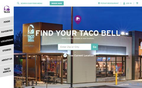 Taco Bell Locations | Find Tacos Nearby