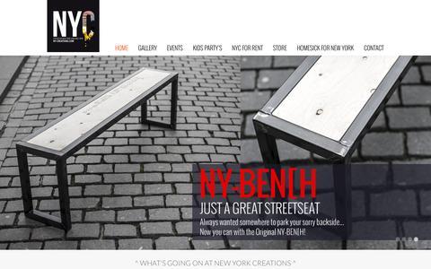 Screenshot of Home Page ny-creations.com - ny-creations - captured Feb. 23, 2016