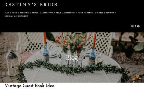 Screenshot of Press Page destinysbride.com - Destiny's Bride — Blog - captured Aug. 6, 2018