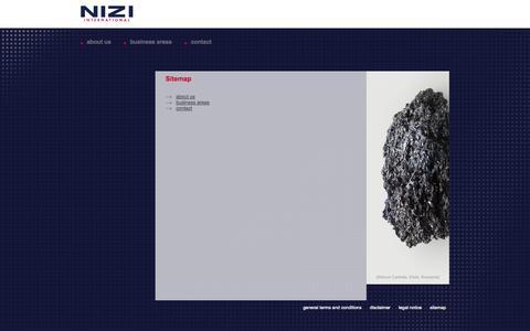 Screenshot of Site Map Page nizi.com - Sitemap | Nizi - Nizi International - captured Oct. 9, 2014