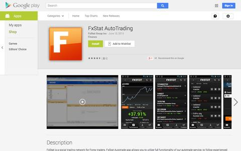 Screenshot of Android App Page google.com - FxStat AutoTrading - Android Apps on Google Play - captured Oct. 23, 2014