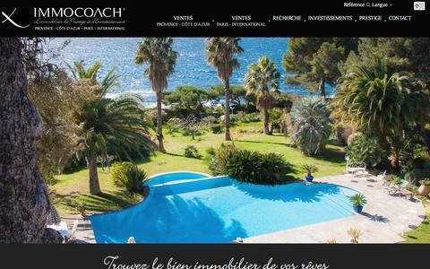 Screenshot of Home Page immocoach.fr - Immobilier à Carqueiranne | IMMOCOACH - captured June 7, 2017