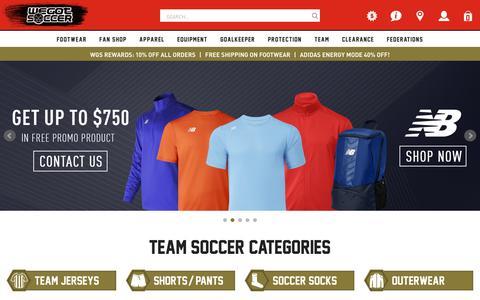 Screenshot of Team Page wegotsoccer.com - WGS Team Uniforms | WeGotSoccer.com - captured Sept. 22, 2018