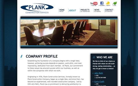 Screenshot of About Page plankllc.com - Plank LLC - Commercial General Construction, Design-Build, Construction Management - captured Sept. 30, 2014