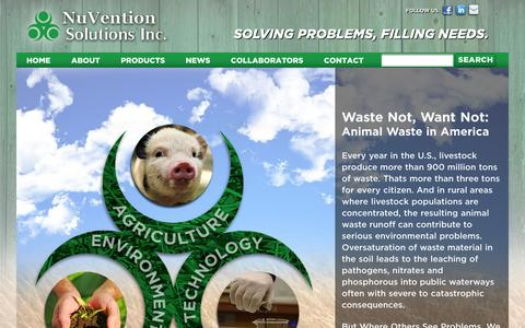 Screenshot of Home Page nuventionsolutions.com - Nuvention | Just another WordPress site - captured Oct. 7, 2014