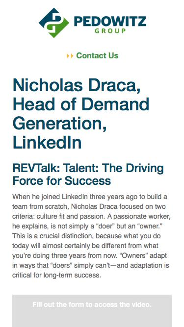 REVTalk: Talent: The Driving Force for Success