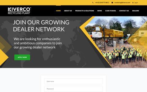 Screenshot of Login Page kiverco.com - Kiverco - Kiverco - captured Oct. 17, 2017