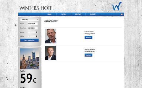 Screenshot of Team Page winters.de - Winters Hotel Company | Unternehmen - captured Oct. 7, 2014
