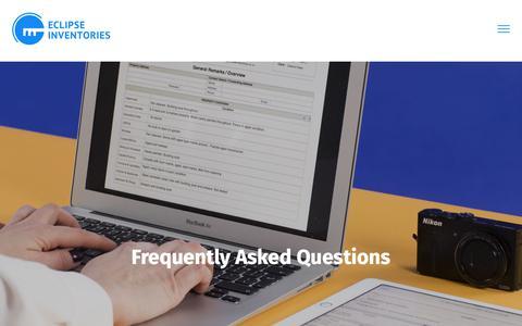 Screenshot of FAQ Page eclipseinventories.co.uk - FAQs - Eclipse Inventories - captured Sept. 27, 2018