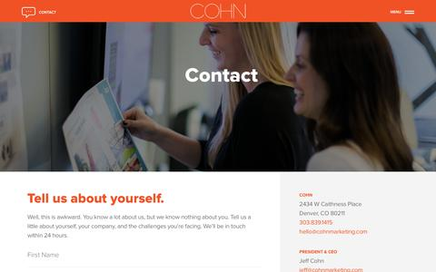 Contact Us - COHN Marketing