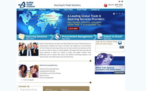 Screenshot of Home Page Site Map Page globaltradegateway.com - Home | Global Trade Gateway - captured July 13, 2016