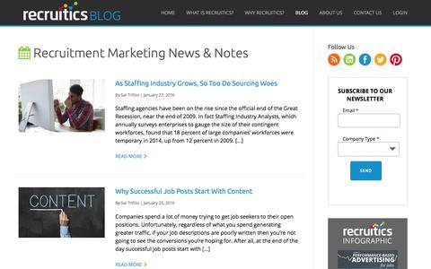 Recruitics Blog | Recruitment Marketing News