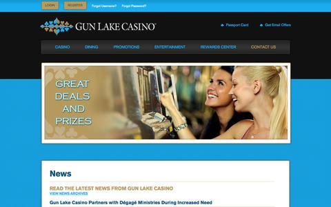 Screenshot of Press Page gunlakecasino.com - News - captured Sept. 30, 2014