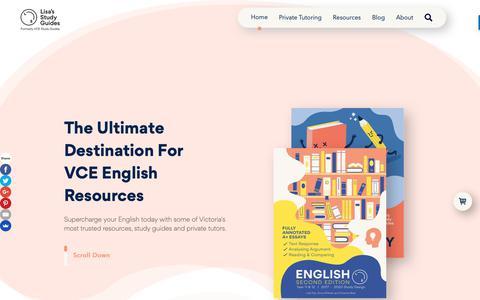 Screenshot of Home Page vcestudyguides.com - VCE Study Guides - captured Nov. 19, 2018