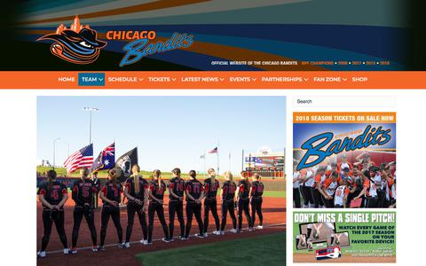 Screenshot of Team Page chicagobandits.com - Roster – Chicago Bandits - captured March 14, 2018