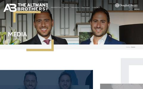 Screenshot of Press Page thealtmanbrothers.com - Media - The Altman Brothers - captured Sept. 19, 2018
