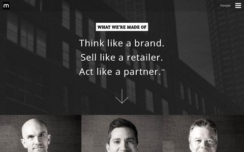 Screenshot of Team Page matchmg.com - Leadership | Match Marketing Group - captured Sept. 21, 2018