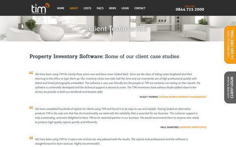 Screenshot of Testimonials Page theinventorymanager.co.uk - Testimonials │ The Inventory Manager Software - captured Aug. 14, 2016