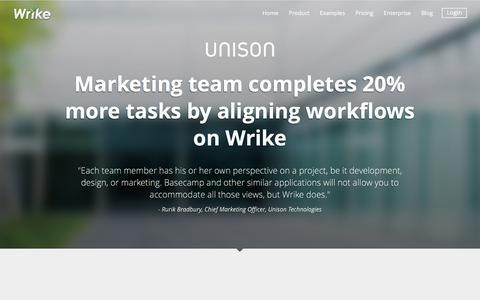 Unison Success Story | Wrike Customers