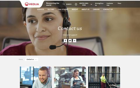 Screenshot of Contact Page veolia.co.uk - Contact us | Veolia UK - captured June 30, 2019