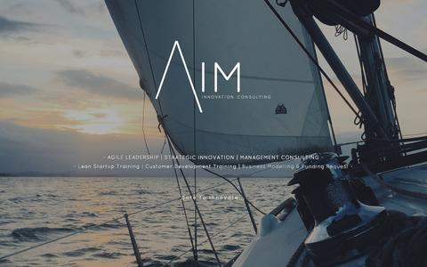 Screenshot of Home Page aim.cw - Aim - Innovation Consulting - captured Nov. 20, 2016