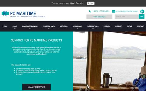 Screenshot of Support Page pcmaritime.com - Quality Support - PC Maritime are dedicated to customers - captured Sept. 22, 2018