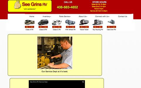 Screenshot of Services Page seegrins.com - Service - captured Sept. 23, 2015