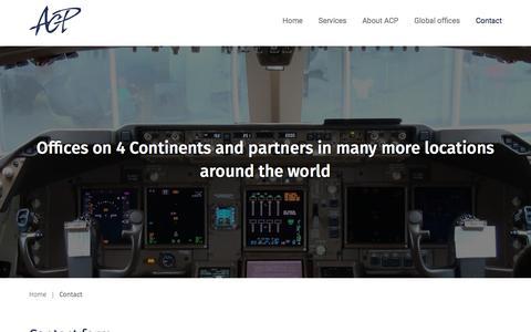 Screenshot of Contact Page acpww.com - Contact - ACP Worldwide - captured Nov. 19, 2016