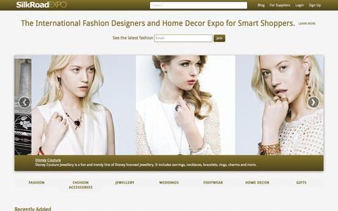 Screenshot of Home Page silkroadexpo.com - Fashion Designers Expo | Home Decor | Jewellery | Accessories - captured July 27, 2018