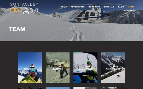 Screenshot of Team Page sunvalleyheliski.com - Team — Sun Valley Heli Ski - captured Oct. 20, 2018