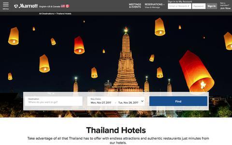 Top Hotels in Thailand | Marriott Thailand Hotels