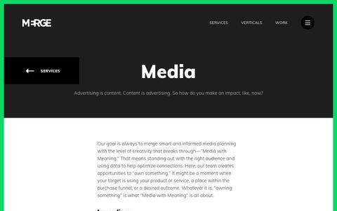 Screenshot of Press Page mergeworld.com - Media Marketing Agency | MERGE - captured July 19, 2019