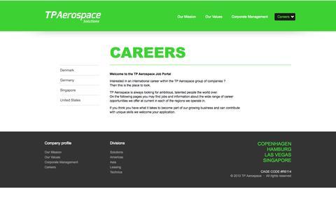 Screenshot of Jobs Page tpaerospace.com - Careers - captured Sept. 30, 2014