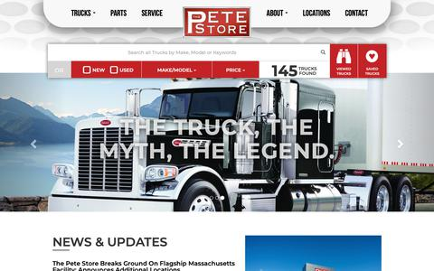 Screenshot of Home Page thepetestore.com - The Peterbilt Store - captured Oct. 20, 2018