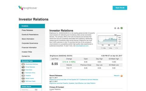 Brightcove - Investor Relations