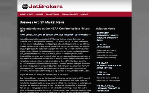 Screenshot of Press Page jetbrokers.com - dAircraft Market News, JetBrokers Press Releases, Market Update Newsletters, BizAv New Updates, Research by JetBrokers.com   Worldwide Corporate Aircraft Sales - captured Jan. 9, 2016