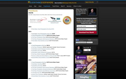 Screenshot of Press Page everything-everywhere.com - Press and Media Mentions - captured Sept. 19, 2014
