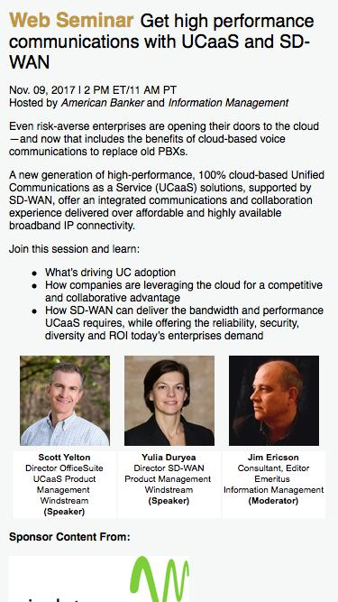 Get high performance communications with UCaaS and SD-WAN Web Seminar