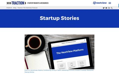 Screenshot of Blog nextviewventures.com - Startup Stories Archives - Page 5 of 7 - NextView Ventures - captured April 17, 2017