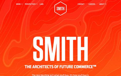 Screenshot of Home Page smith.co - SMITH - The Architects of Future Commerce - captured July 13, 2018